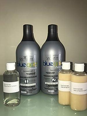SALVATORE BLUE GOLD PREMIUM (3 X 100ML Shampo y Keratina): Amazon ...