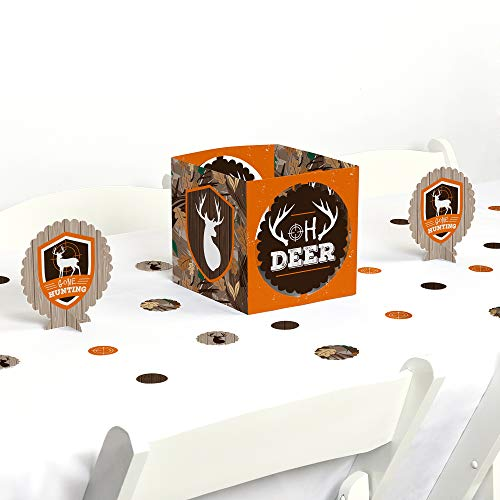 - Big Dot of Happiness Gone Hunting - Deer Hunting Camo Baby Shower or Birthday Party Centerpiece and Table Decoration Kit