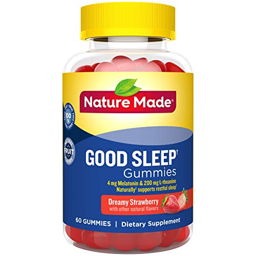 Nature Made Good Sleep† Gummies, 4mg Melatonin + 200 mg L-theanine, 60 Count (Packaging May Vary)