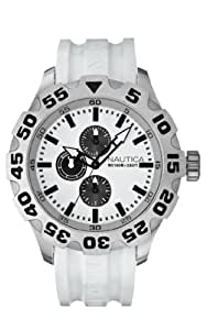 Nautica Men's N15583G BFD 100 Multifunction White Resin Watch