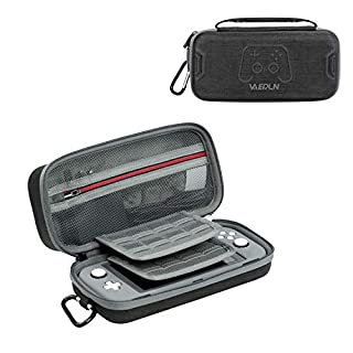 Vanerdun Nintendo Switch Lite Carrying Case - Protective Hard Shell Travel Carrying Case for Nintendo Switch Lite Console & Accessories, with 16 Game Card Cartridges and 1 Game Machine Protector Case