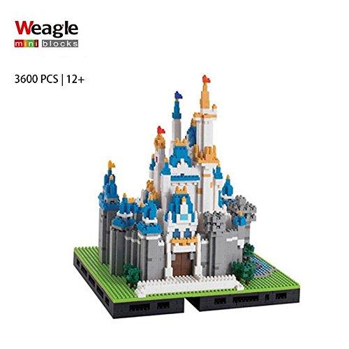 Weagle Micro Block DIY Cinderella Castle - 3600 pc.