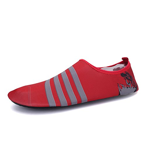 roja playa multi Zapatos deportes Classic Lucdespo al transpirable S zapatos elástica funcional aire libre y de natación suave buceo 168 HqC0Cxgw