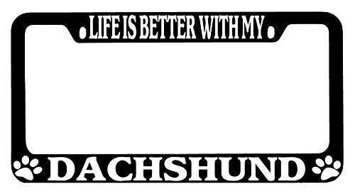 daschund license plate frame - 8