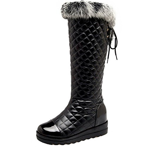 COOLCEPT Women Boots Warm Lined Black