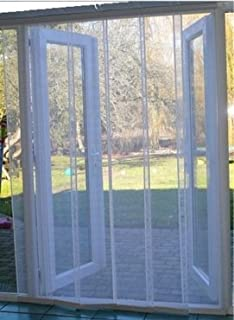 High Quality Flyscreen Queen Fly Screen Multi Panel Fly Screen Door White 150cm X 230cm  (59 X