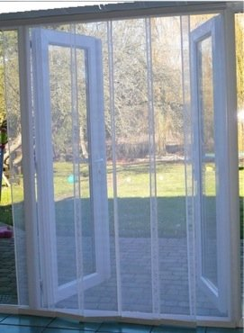 Door fly curtain uk curtain menzilperde net for Fly curtains for french doors