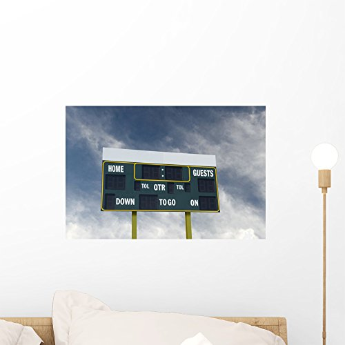 Wallmonkeys American Football Scoreboard with Wall Mural Peel and Stick Graphic (18 in W x 12 in H) ()