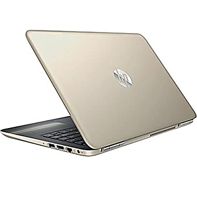 "Premium HP Pavilion Business Flagship High Performance Laptop PC 14"" HD+ Display Intel i3-6100U Processor 8GB RAM 1TB HDD Backlit-Keyboard Webcam Bluetooth Windows 10-Modern Gold"