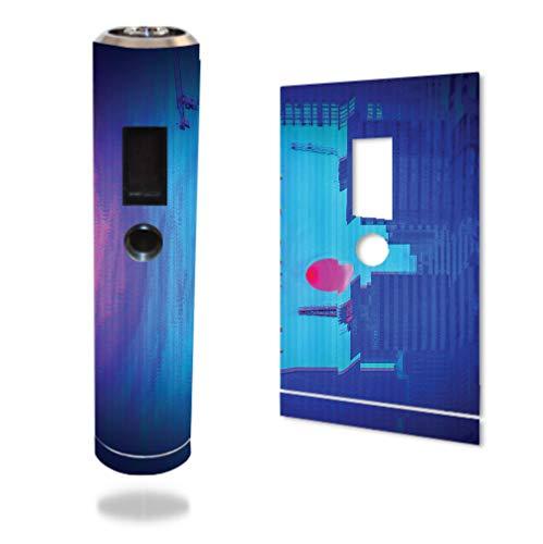 Decal Sticker Skin WRAP - Sigelei Zmax Mini - Vaporwave Japanese Sunset Design Tall