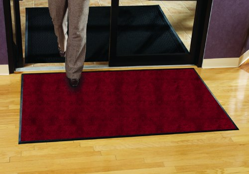 Guardian Platinum Series Indoor Wiper Floor Mat, Rubber with Nylon Carpet, 6'x8', Burgundy by Guardian (Image #2)