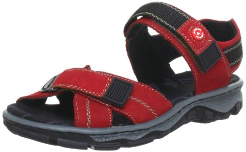 Femme 68851 Rot rosso 33 Ouvert Sandales fire Rieker Bout gRZqUgpw