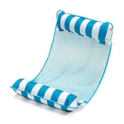 ELOVER Foldable Dual-Purpose Backrest Foating Water Play Floating Bed Pool Loungers: Sports & Outdoors