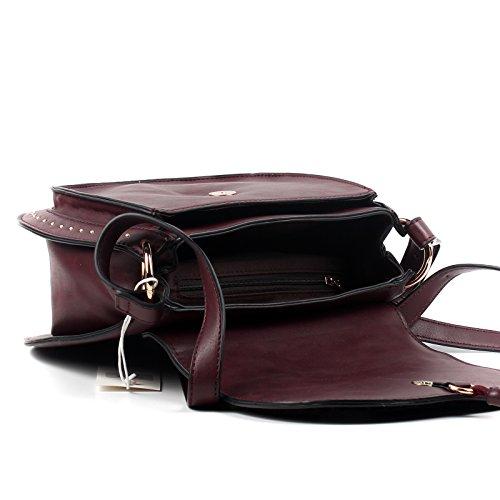 Navy Bag Tassy Aossta Faux Ladies Cross Leather Designer Body ppwOqf8
