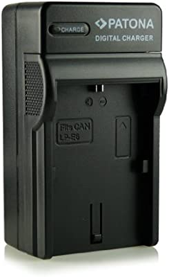 Patona - Cargador tipo LP-E6 con tres clavijas para cámara de ...