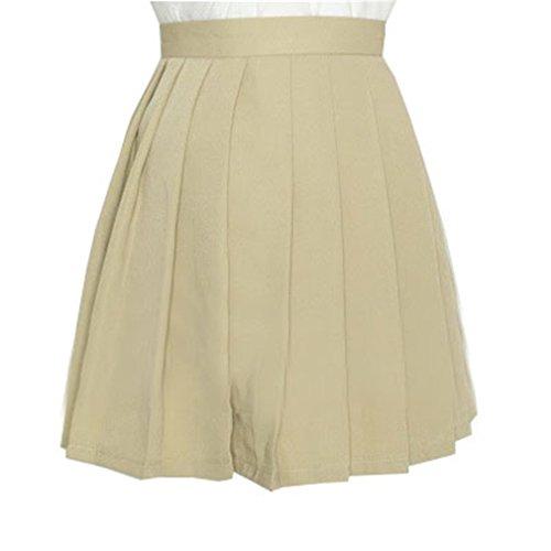 s school high waist flat pleated skirts 4xl