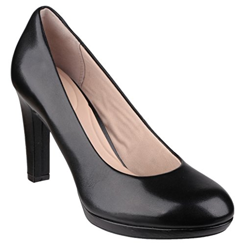 Ally Plain Ladies Slip Black 7 To On Rockport Womens Seven Heeled Pumps 74TXXq