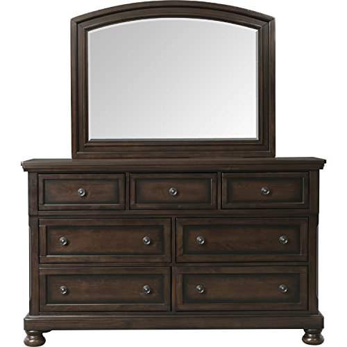 Picket House Furnishings Kingsley Dresser and Mirror Set in Walnut (Kingsley Bedroom Furniture)