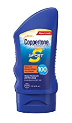 Whatever outdoor activity you're passionate about, Coppertone SPORT Sunscreen Lotion is on your team. Designed to stay on strong when you sweat, this high-performance sunscreen protects you from the sun with a durable and water-resistant form...
