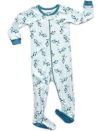 Leveret Baby Boys Footed Sleeper pijama 100% algodón (Tamaño 6M-5años)