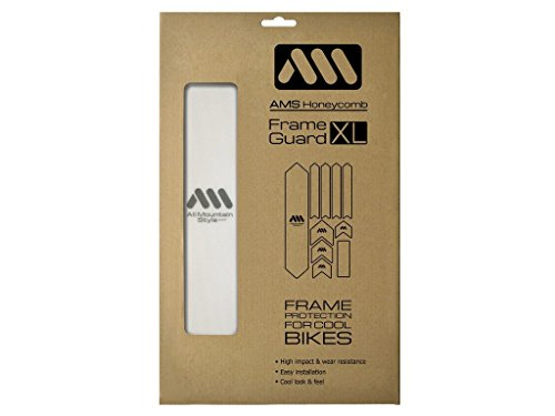 Freeride Bike Frames - All Mountain Style AMSFG2CLSV Honeycomb High Impact Frame Guard XL - Protects Your Bike from Scratches and dings, Clear/Silver