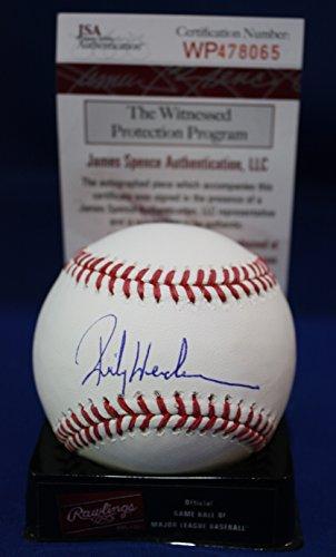 Autographed Rickey Henderson Rawlings OMLB Baseball - JSA Authentcated