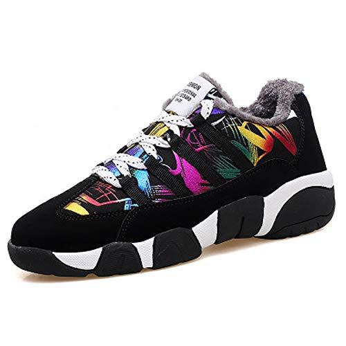 Sneakers Donna Da Fondo Wgfgxq Di Calde Velluto Luce Scarpe Spesso Con Blackcolorful Casual nE55WIq