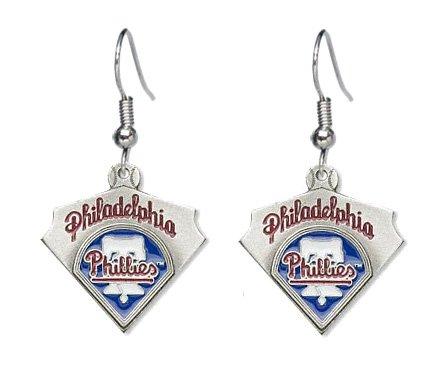 - Philadelphia Phillies Dangle Earrings - MLB Baseball Fan Shop Sports Team Merchandise
