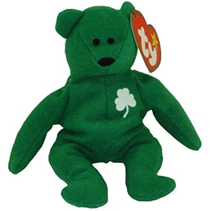 b0422f1d082 Image Unavailable. Image not available for. Color  Ty Teenie Beanie Babies  -- Erin the Irish St Patrick s Teddy Bear ...