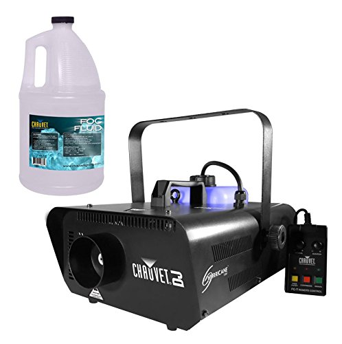 CHAUVET Hurricane H1301 Pro Fog/Smoke Machine + 1 Gallon FJU Fog Fluid & Remote by Chauvet DJ