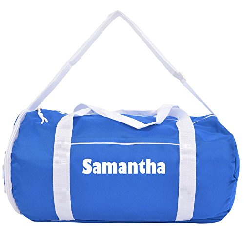 Kaysees Personalized Two-Tone Sport Gym Roll Duffel Bags with Player Name Royal Blue For Sale