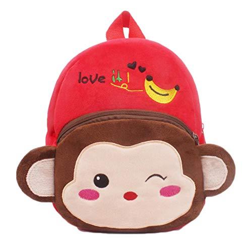 rot Affe Kleinkind-Rucksack Kindertasche Tierkarikatur Kleine Reisetasche für Baby Girl Boy 1-3 Jahre alt Weihnachtsgeschenk Geburtstagsgeschenk A