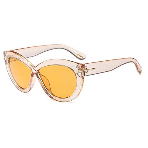 UV400 Marée Mode Cadre pour Marque Soleil Noir T Femme Croix Grand 5 de Décoratifs Soleil Ovale ZHANGYUSEN Lunettes Eyewear Lunettes Motif de IR4dqRxA