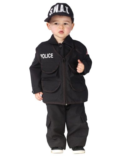 [Authentic S.W.A.T. Costume - Large] (Swat Vest Costume)