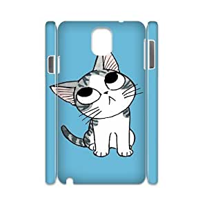 3D Samsung Galaxy Note 3 Case Cute Cartoon Kitten Ilike, Pattern Cute Kitten Jumphigh, {White}