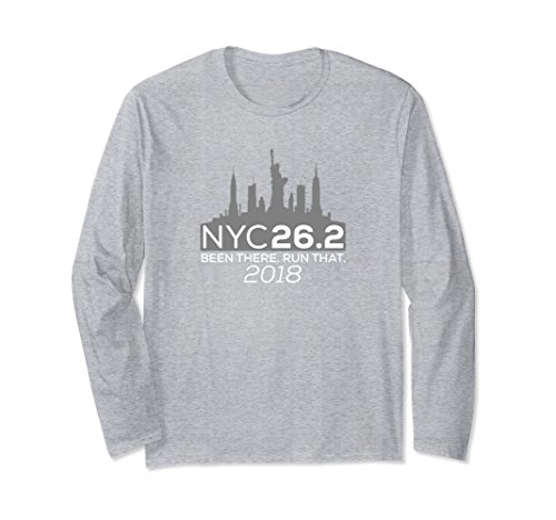 Unisex NYC 26.2 Been There Run That Marathon Shirt SLATE Small Heather ()