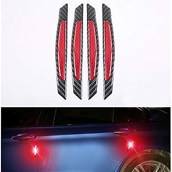 2x Car Streamline Protection Bumper Anti-rub Crash Strip Sticker Soft PVC White