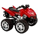 MD Group RC ATV Motorcycle Remote Control 1/12 Scale 2.4G 4D Red ABS Kids Car Toys