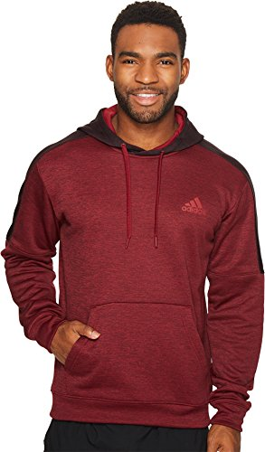 Burgundy Pullover Hoody (adidas Men's Team Issue Fleece Pullover Hoodie, Burgundy/Dark Burgundy, Small)