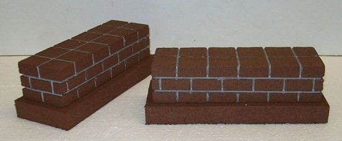 Model Railroad O Gauge SHORT Bridge Piers - Set of 2