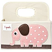 3 Sprouts Diaper Caddy, Elephant Pink
