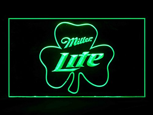 Miller Lite Shamrock Beer Sport Game Bar Hub Advertising LED Light Sign ()