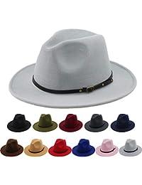 f9f4ffebc3e Women Belt Buckle Fedora Hat Vintage Wool Jazz Hat Panama Hat