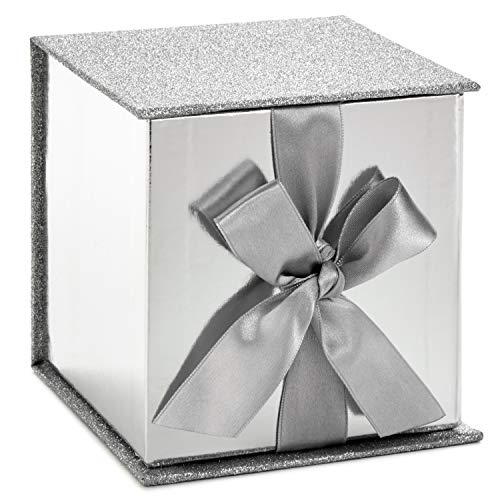Hallmark Signature Small Gift Box with Fill (Silver Glitter) ()