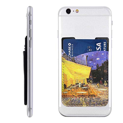 Vincent Van Gogh Cafe Terrace at Night Cell Phone Stick On Card Wallet Sleeve,Credit Cards/ID,for Back of iPhone,Android and All Smartphones