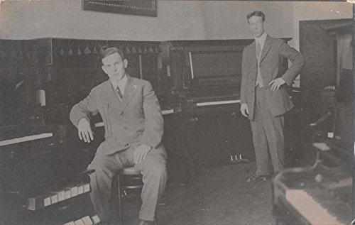 Wilkes-Barre Pennsylvania Piano Store Interior Real Photo Postcard - Stores Wilkes In Barre