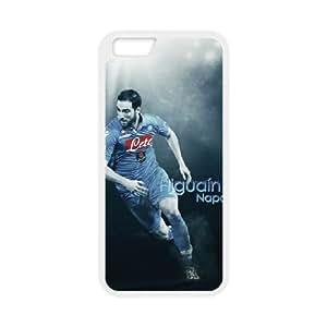 Napoli Gonzalo Higuain 003 funda iPhone 6 Plus 5.5 Inch Cubierta blanca del teléfono celular de la cubierta del caso funda EOKXLKNBC22272