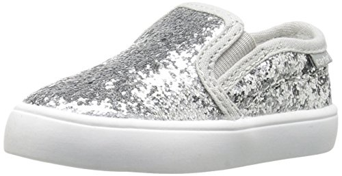 carter's Tween Girl's Novelty Slip-On, Silver Glitter 2, 6 M US Toddler