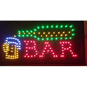 LED Open Sign . On/off with Chain High Visible Bright Colors