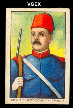 (1910 T79 Military Series Regular (Non-Sports) Card# 13 Bosnia-Herzegovinian Infantry of the austria VGX Condition)